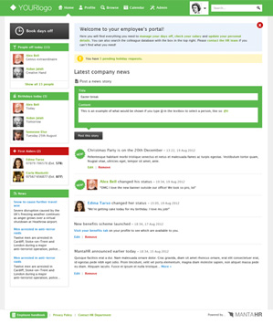 Screenshot of MANTA homepage