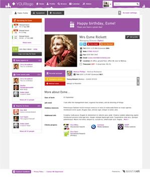 Screenshot of MANTA profile page